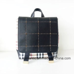 Guangzhou Supplier Lady PU Rivets Leather Backpack (NMDK-040505) pictures & photos