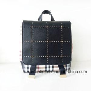 Guangzhou Supplier Lady PU Rivets Leather Backpack (NMDK-040505)