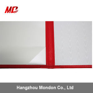Various Colors White Moire PU Ribbon Cornersdiploma Document Cover pictures & photos
