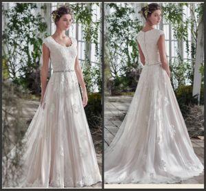 Applique Ball Gowns Applique U-Neck Tulle Wedding Dresses Y2037 pictures & photos