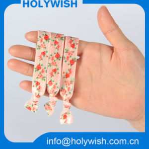 Printed Polyester Webbing Elastic Hair Accessory for Girl