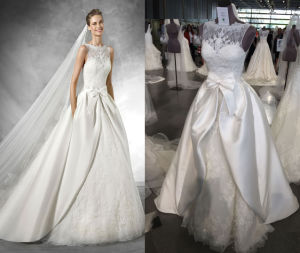 Detachable Illusion Neck 2 in 1 Wedding Gown pictures & photos