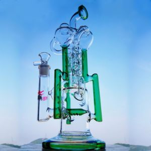 Hbking Glass Pipe Recycler Bubbler Chamber Honeycomb Percolator Twisty Glass Pipe pictures & photos