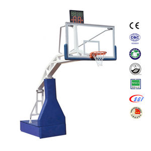 International Competition Remote Control Basketball Stand, Hydraulic Basketball Hoop Stand pictures & photos