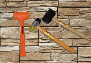 High Quality 1lb Rubber Mallet with Wooden Handle for Construction pictures & photos