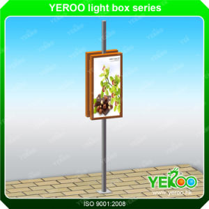 Lamp Post Display-Lighting Lamp Pole Signs- Street Aluminium Lightbox pictures & photos
