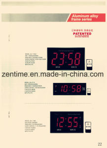 Hot Sale Hot Design LED Digital Wall Clock with Metal Frame for Home Decoration pictures & photos