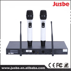 UHF Wireless 2 Channel Karaoke Singing Microphone pictures & photos