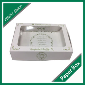 Glossy Custom Printed Ivory Board Box with PVC Window pictures & photos