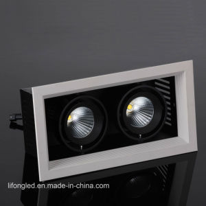 Two Heads COB LED Spotlights 2*12W Grille Downlight pictures & photos