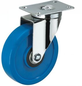 3inch Middle- Sized Wheel Biaxial Blue PVC Caster