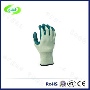 9′′ High Quality Wrist Knitted Nitrile Glove pictures & photos