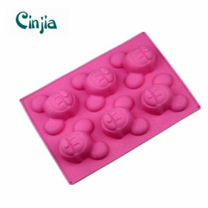 6 Cavities Mickey Silicone Cake Baking Mold Pan pictures & photos