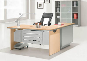 Light Grey Decroation Oak Wooden Office Desk (HX-AD801) pictures & photos