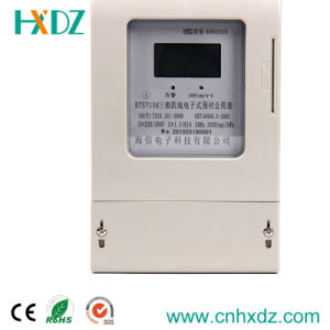 Three Phase Prepaid Watt-Hour Electricity Meter LCD Display pictures & photos