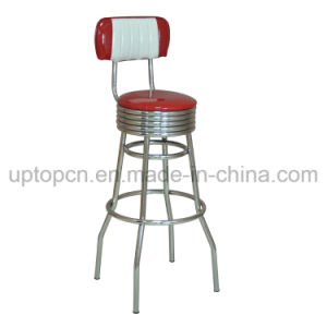Wholesale High Round Bar Stool with Double Color Upholstery (SP-HBC256) pictures & photos