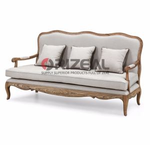 Solid Wood Recliner Chaise Lounge Living Room Sofa Set pictures & photos