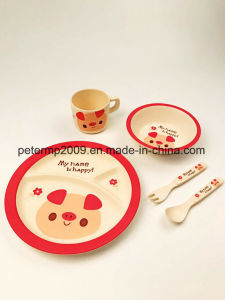 Food Safe Unbreakable Bamboo Fiber Kids Dinnerware Set pictures & photos