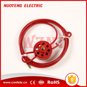 Round Multipurpose Cable Lockout with 8 Holes Red