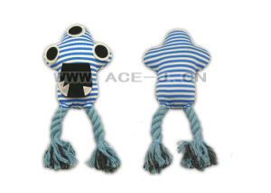 Cartoon Design Rope Perfect Dog Toy with Three Big Eyes Soft Pet Toy pictures & photos
