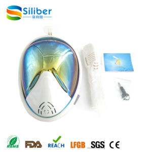 Rainbow Mirror Lenses 180 Degree Panoramic Seaview Full Face Mask for Snorkel