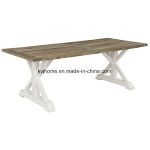 Country Style Rectangular White Used Wooden Dining Table (AF-120) pictures & photos