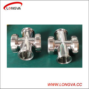 Sanitary Stainless Steel Four Way Pipeline Sight Glass pictures & photos