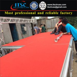 4X8FT Aluminum Mobile Stage with Red Carpet for Wedding Party pictures & photos
