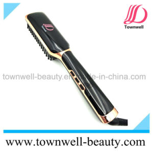LCD Salon Hair Styling Tools Ceramic Flat Iron Brush Professional pictures & photos