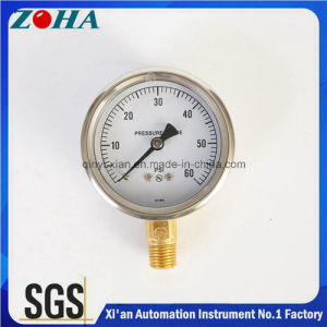 Half Stainless Steel Bottom Thread Type Pressure Gauge pictures & photos