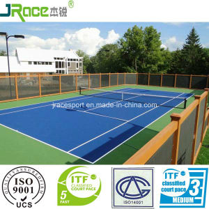 Good Cushion Effect Sport Surface Tennis Court Outdoor Sport Floor pictures & photos
