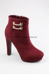 Zipper Design High Heel New Fashion Lady Boots pictures & photos