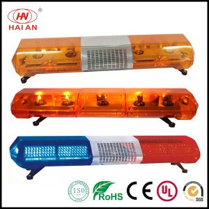 Red Blue Amber Rotator Police Light Bars with Speaker Built-in Controlled by Siren Ambulance Fire Engine Police Car Lightbar pictures & photos
