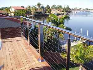 Stainless Steel Stair Double Wire Balcony Fence Railing pictures & photos