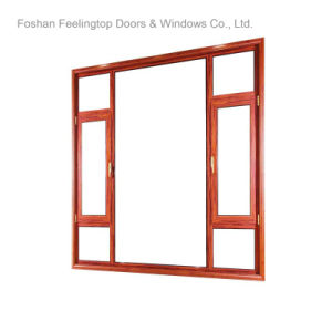 Heat Insulation Thermal Break Aluminum Casement Window (FT-W135) pictures & photos