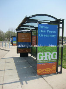Metal Bus Shelter for Public (HS-BS-F027) pictures & photos