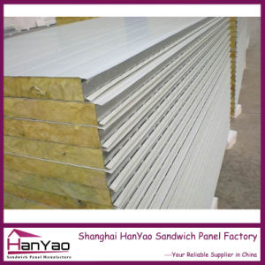 Shanghai Hanyao Factory Price Fireproof Insulated Steel Sandwich Panel for House Building pictures & photos