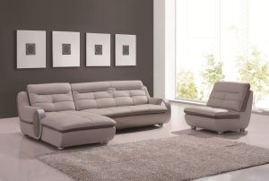 L Shape Modern Sectional Leather Sofa pictures & photos