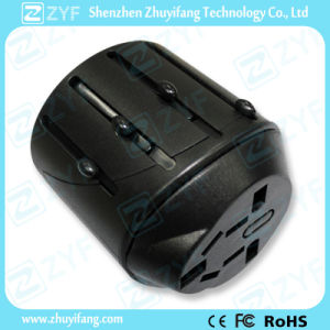 Black Portable Universal Travel Plug Adapter (ZYF9008) pictures & photos
