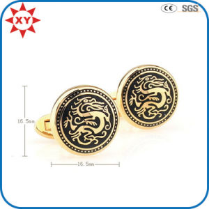 Gold Plating Dragon Shape Mens Cufflinks for Gifts pictures & photos