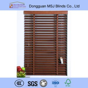 Horizontal Wooden Window Blinds Slats Blinds Tape Cord Tilt 50mm Wood Slats pictures & photos