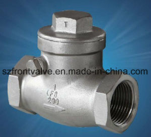 Stainless Steel Screwed Swing Check Valve pictures & photos