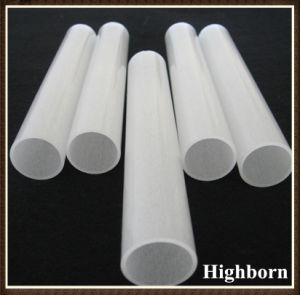 Semi-Clear Fused Quartz Glass Tube Tubing pictures & photos