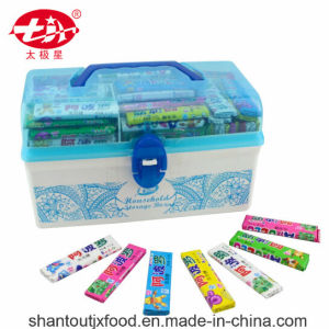 Blue Rectangular Plastic Storage Box Chewing Gum pictures & photos