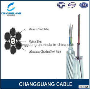 OPGW Fiber Optic Cable China Supplier Optical Fiber Composite Overhead Ground Wire Fiber Cable Price pictures & photos