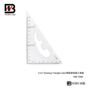 2 PC in 1 Office Stationery Triangular Plastic Ruler pictures & photos