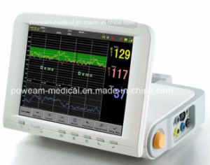 Fhr1, Toco, FM, Maternal ECG, NIBP, SpO2, Temp, Resp Ctg Fetal Maternal Monitor (FM-10C) pictures & photos