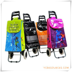 Two Wheels Shopping Trolley Bag for Promotional Gifts (HA82006) pictures & photos