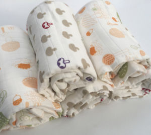 100% Bamboo Blanket, Bamboo Swaddle Muslin Blanket pictures & photos