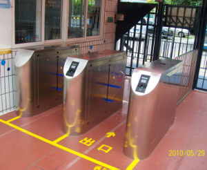 900mm Passageway Width Safety Pedestrian Access Double Flaps Barrier Turnstile pictures & photos